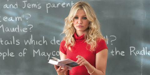 Finger, Hand, Long hair, Blond, Eyelash, Education, Brown hair, Reading, Teacher, Feathered hair,