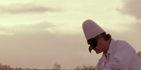Human, Sunglasses, Mammal, People in nature, Working animal, Pasture, Farm, Rural area, Cap, Grassland,