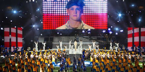 Cap, Uniform, Flag, Team, Baseball cap, Stadium, Musical ensemble, Crew, Flag of the united states, Fedora,