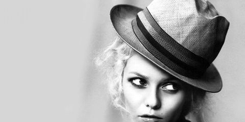 Nose, Hat, Lip, Mouth, Chin, Eyebrow, Fashion accessory, Style, Monochrome photography, Monochrome,