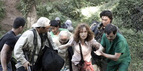 Human, Social group, Mammal, Community, Adaptation, People in nature, Friendship, Boot, Sun hat, Jungle,