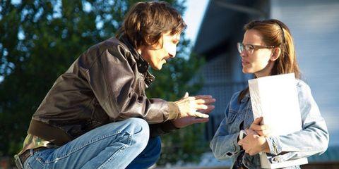Denim, Jeans, Shirt, Outerwear, T-shirt, Jacket, Street fashion, Conversation, Pocket, Belt,