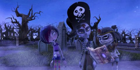 Animation, Purple, Fictional character, Lavender, Fiction, Animated cartoon, Games, Skull, Cg artwork, Pc game,