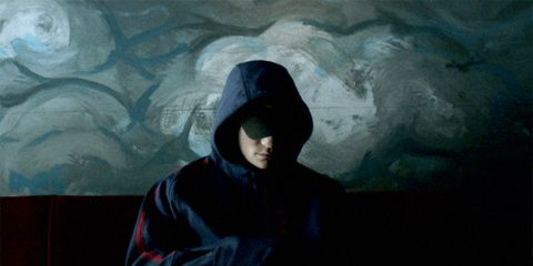 Hood, Visual arts, Art paint, Ice cave, Paint, Painting, Cave, Glacier cave,