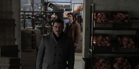 Jacket, Overcoat, Flesh, Red meat, Frozen food,