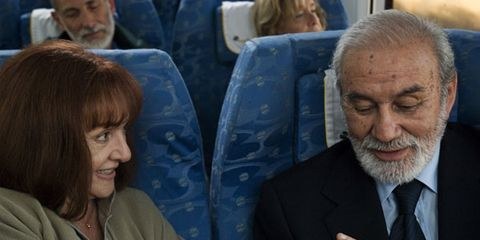 Hair, Head, Hairstyle, Comfort, Suit, Tie, Beard, Facial hair, Moustache, Passenger,