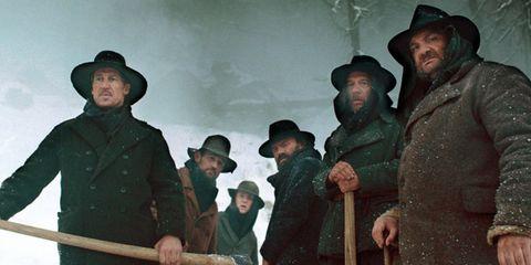 Human, Hat, People, Winter, Sun hat, Headgear, Costume accessory, Facial hair, Cowboy hat, Vintage clothing,