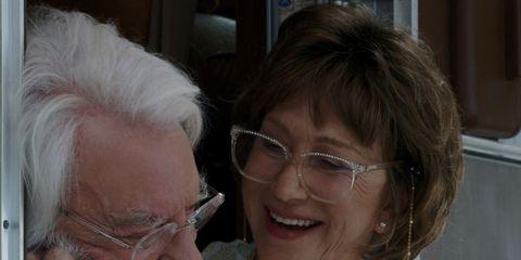 Grandparent, Wrinkle, Nose, Glasses, Human, Smile,