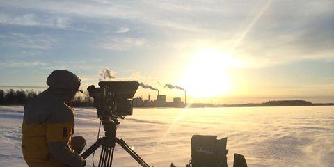 Winter, Sunrise, Snow, Sunset, Sun, Evening, Astronomical object, Ice cap, Arctic, Heat,