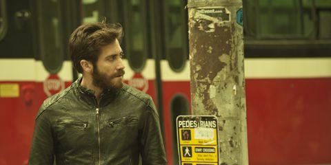 Jacket, Sleeve, Textile, Outerwear, Facial hair, Beard, Leather jacket, Leather, Denim, Street fashion,