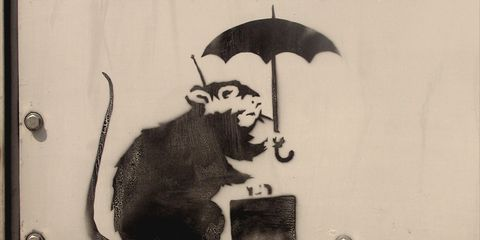 Umbrella, Art, Illustration, Painting, Tail, Drawing, Graphics, Still life photography, Fictional character,
