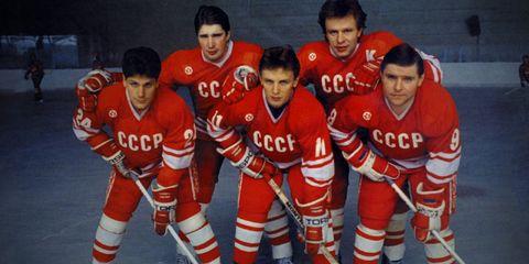 Sports uniform, Nose, Jersey, People, Fun, Sportswear, Sleeve, Sports gear, Ice hockey equipment, Social group,