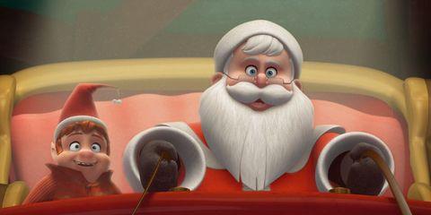 Toy, Fictional character, Animation, Cartoon, Animated cartoon, Pleased, Santa claus, Illustration, Baby toys, Humour,