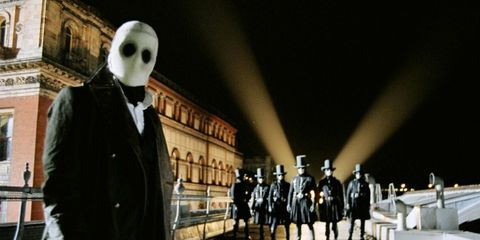 Skull, Fictional character, Bone, Fiction, Overcoat, Mask,