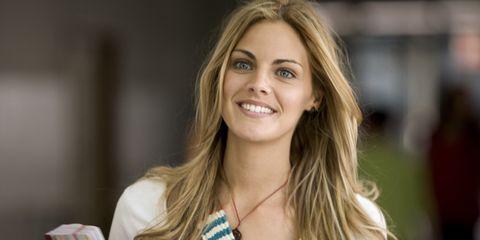 Hairstyle, Eyelash, Beauty, Blond, Street fashion, Tooth, Long hair, Brown hair, Feathered hair, Layered hair,