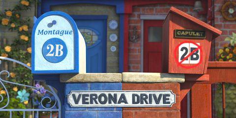 Blue, Sign, Signage, Majorelle blue, Font, Brickwork, Gas, Brick, Number, Symbol,