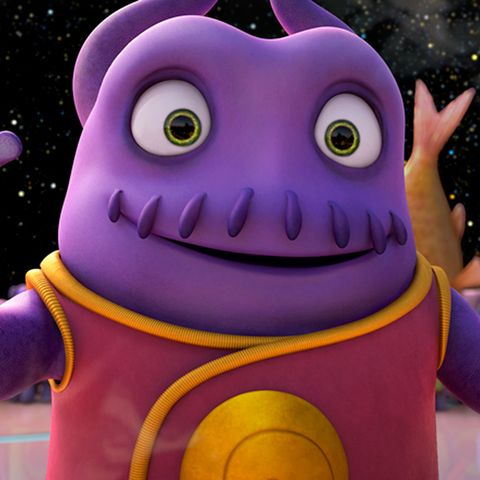 Purple, Violet, Magenta, Fictional character, Lavender, Animation, Animated cartoon, Inflatable,