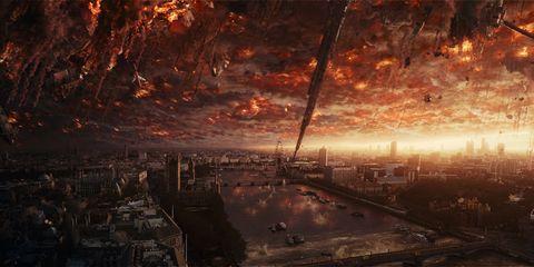 Sky, Atmosphere, Cityscape, Landscape, City, Horizon, Geological phenomenon, World, Space, Evening,