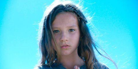 Face, Hair, Blue, Eyebrow, Head, Hairstyle, Beauty, Lip, Nose, Chin,