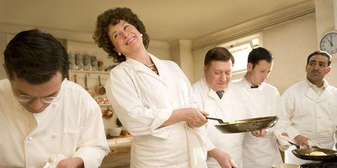 Cook, Dishware, Serveware, Chef, Cooking, Uniform, Mixing bowl, Tableware, Chef's uniform, Cuisine,