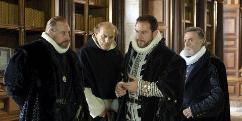 Clergy, Vestment, Cloak, Street fashion, Religious institute, Metropolitan bishop, Cape, Presbyter, Scarf, Priesthood,