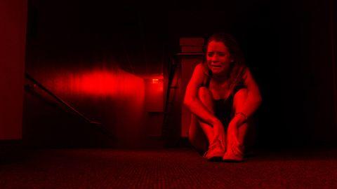 Red, Room, Elbow, Darkness, Flooring, Carpet, Flesh,