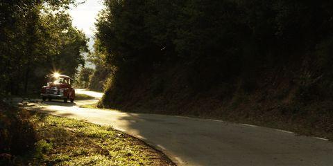 Nature, Road, Road surface, Infrastructure, Asphalt, Atmosphere, Automotive exterior, Automotive lighting, Sunlight, Thoroughfare,