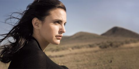 Lip, Natural environment, Hairstyle, Chin, Forehead, Eyebrow, Photograph, Landscape, Facial expression, Jaw,