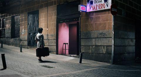 Luggage and bags, Street fashion, Bag, Signage, Photography, Snapshot, Baggage, Electronic signage, Shadow,