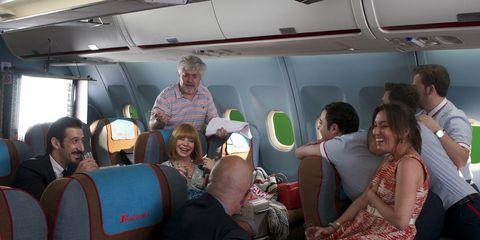 Transport, Comfort, Passenger, Social group, Public transport, Travel, Service, Conversation, Air travel, Lap,