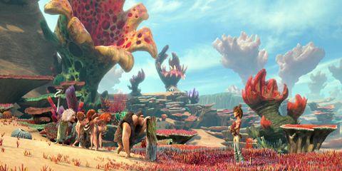 Animation, Art, Animated cartoon, Fictional character, Painting, Illustration, Sand, Plantation, Mythology, Toy,