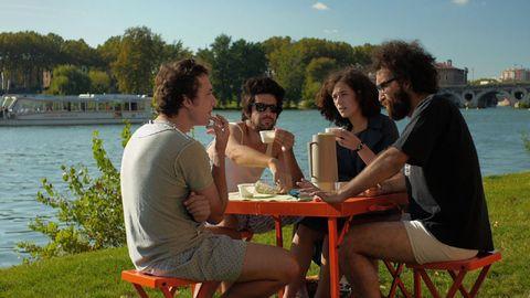 Leg, Human body, Sitting, Water, Leisure, Table, Outdoor furniture, Summer, Furniture, Tourism,