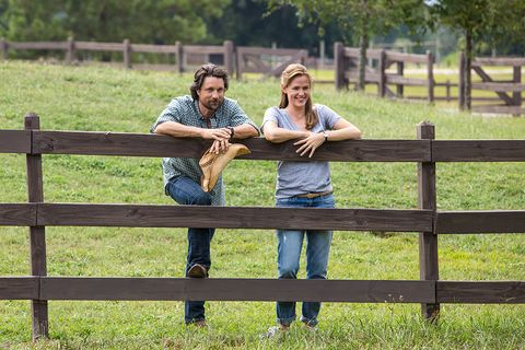 People in nature, Interaction, Denim, Friendship, Farm, Pasture, Grassland, Love, Ranch, Home fencing,