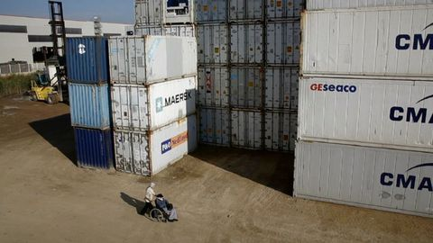 Shipping container, Gas, Sand, Motorsport, Freight transport, Motorcycle, Box, Packaging and labeling, Cargo, Inventory,