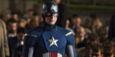 Fictional character, Superhero, Costume, Hero, Avengers, Carmine, Armour, Captain america, Shield, Helmet,