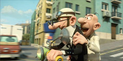 Animation, Animated cartoon, Cartoon, Fictional character, Vehicle registration plate, Fiction, Automotive tail & brake light, Toy, Full-size car, Humour,