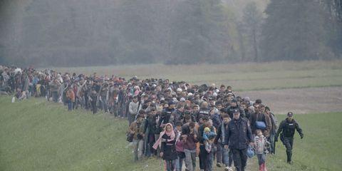 Social group, Crowd, Grassland, Geology, Walking, Fell, Wilderness, Adventure, Troop, Backpacking,