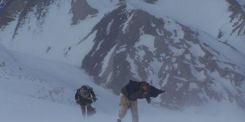 Winter, Mountainous landforms, Freezing, Glacial landform, Slope, Snow, Ice cap, Mountain, Geological phenomenon, Mountain range,
