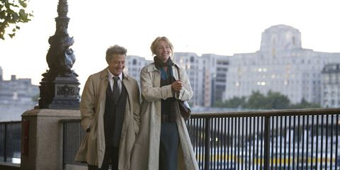 Coat, Trousers, Standing, Outerwear, Collar, Jacket, Suit, Overcoat, Blazer, Suit trousers,