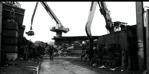 Infrastructure, Machine, Construction equipment, Iron, Monochrome photography, Metal, Black-and-white, Monochrome, Composite material, Engineering,