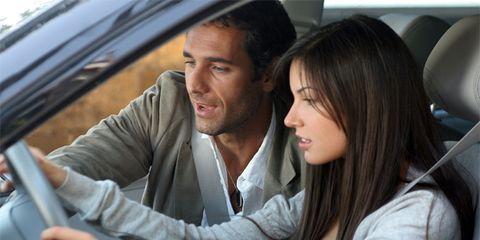 Vehicle door, Comfort, Interaction, Glass, Black hair, Car seat, Beard, Windshield, Automotive window part, Head restraint,