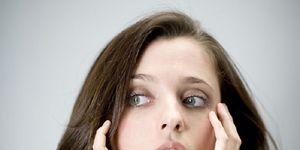 Lip, Finger, Brown, Hairstyle, Skin, Eye, Chin, Forehead, Shoulder, Eyebrow,