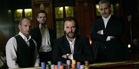 Collar, Facial hair, Formal wear, Dress shirt, Tie, Beard, Blazer, White-collar worker, Moustache, Gambling,