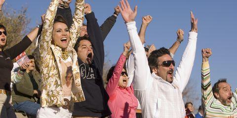 Arm, People, Social group, Celebrating, Tourism, Gesture, Cheering, Sunglasses, Rejoicing, Belt,
