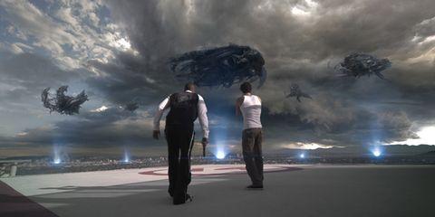 Cloud, Standing, Interaction, World, Animation, Snapshot, Cg artwork, Digital compositing, Gesture, Storm,