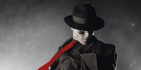 Hat, Sleeve, Jacket, Collar, Outerwear, Style, Headgear, Costume accessory, Black, Monochrome,