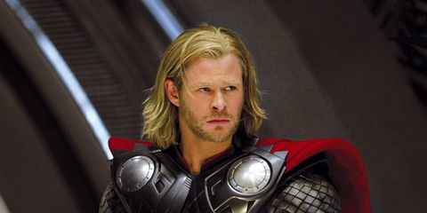 Fictional character, Armour, Costume, Personal protective equipment, Thor, Facial hair, Breastplate, Action film, Hero, Beard,
