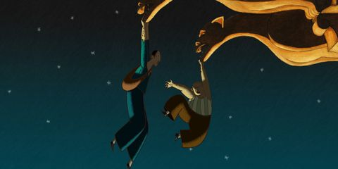 Space, Adventure, Extreme sport, Animation, Exercise, Jumping, Cg artwork, Graphic design,