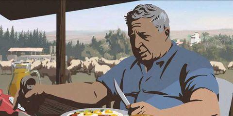 Cuisine, Animation, Tableware, Dish, Plate, Animated cartoon, Meal, Finger food, Fiction, Breakfast,