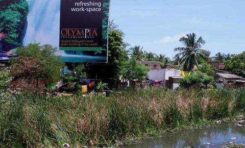Vegetation, Bank, Wetland, Watercourse, Rural area, Signage, Pond, Advertising, Bog, Channel,